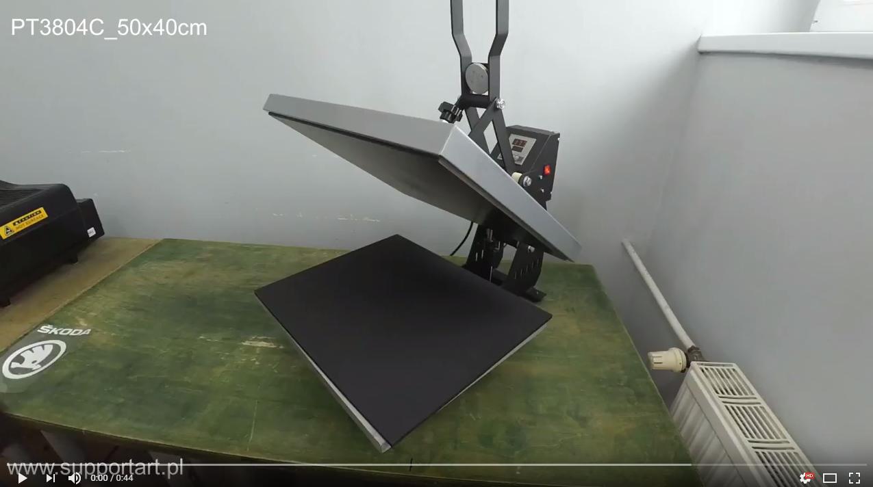 Automatycznie otwierana prasa termotransferowa 50x40cm